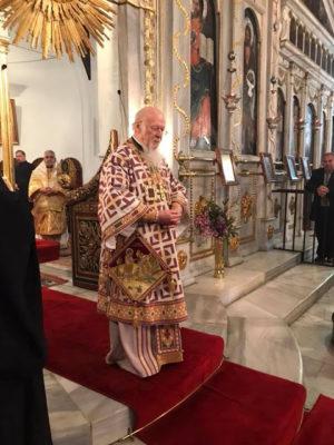 Πατριαρχική και Συνοδική Θεία Λειτουργία στη Μονή Βαλουκλή