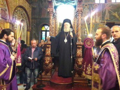 Κυριακή των Βαΐων και Ακολουθία του Νυμφίου στη Μητρόπολη Χαλκίδος