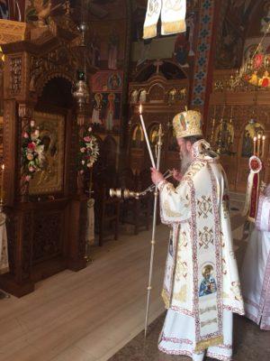 Πλήθος προσκυνητών για να προσκυνήσουν την Παναγία Βηματάρισσα στη Μητρόπολη Κισάμου