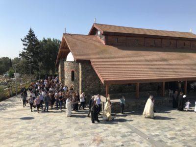 Οι εκτοπισμένοι της Πυργάς Αμμοχώστου Μεσαορίας εόρτασαν την Παναγία την Απαλαίστρα