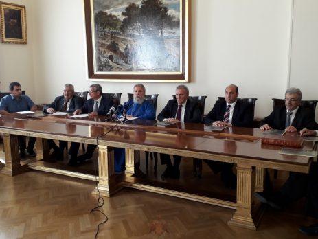 Ο Αρχιεπίσκοπος Κύπρου στη δημοσιογραφική διάσκεψη 33ου Μαραθωνίου Αγάπης Αγνοουμένων