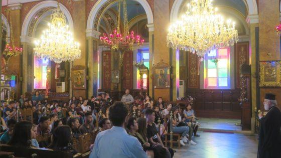 Με μαθητές του Λυκείου Νάξου συναντήθηκε ο Σύρου Δωρόθεος