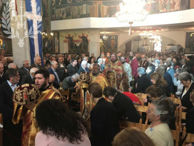 Αρχιερατική Θεία Λειτουργία στον Μητροπολιτικό Ναό Αγίου Γεωργίου Νεαπόλεως