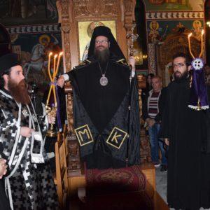 Ο Όρθρος της Μεγάλης Τρίτης στον Ναό Κοιμήσεως Θεοτόκου–Αιαντείου Σαλαμίνος