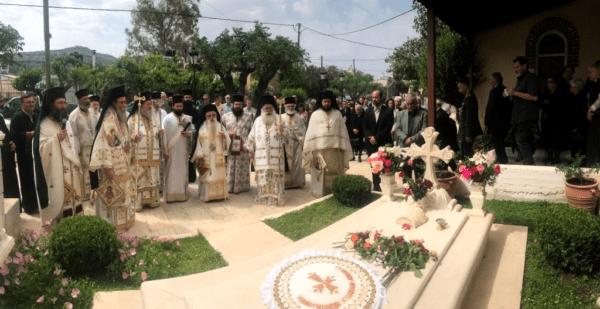 Αρχιερείς και πιστοί στο Πενταετές Μνημόσυνο του Μητροπολίτου Κισάμου κυρού Ειρηναίου
