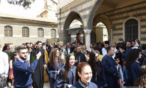 Δαμασκός: Εορτάσθηκε η Είσοδος του Κυρίου στην Ιερουσαλήμ στο Μετόχιο της Ρωσικής Εκκλησίας
