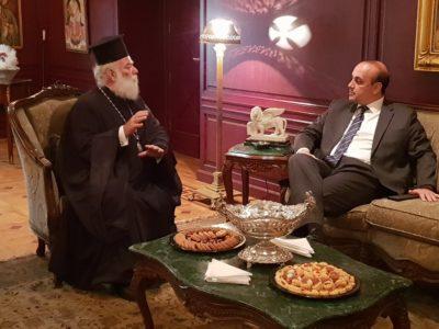 Ο Δήμαρχος Πάφου έγινε δεκτός από τον Πατριάρχη Αλεξανδρείας Θεόδωρο