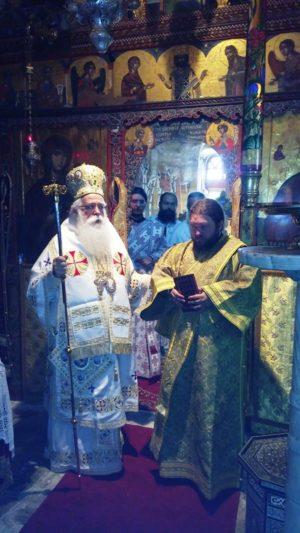 Πλήθος Μοναχών και Κληρικών στη Χειροτονία Διακόνου στην Ι.Μ. Αγίου Παντελεήμονος Αγιάς