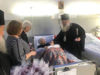 Επίσκεψη του Σεβ. Μητροπολίτου κ. Κυρίλλου στo Νοσοκομείο Σητείας