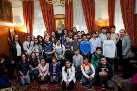 Τριάντα μαθητές του δημοτικού επισκέφθηκαν τον Αρχιεπίσκοπο