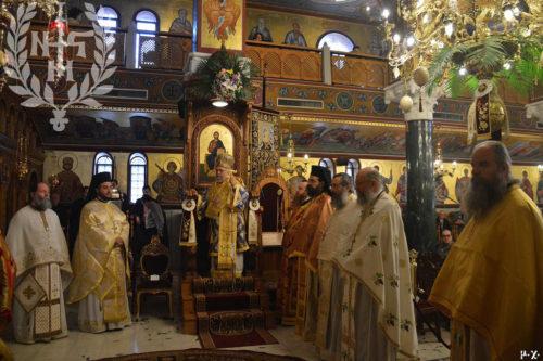 Ο Βρυούλων Παντελεήμων στην Αρχιερατική Θεία Λειτουργία στον Πανηγυρίζοντα Ι.Ν.Ζωοδόχου Πηγής Αμπελοκήπων