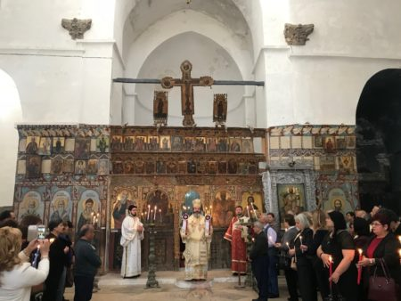Αρχιερατική Θεία Λειτουργία στο καθολικό της Βασιλικής και Σταυροπηγιακής Μονής Αποστόλου Βαρνάβα στην κατεχόμενη Σαλαμίνα