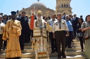 Αίγυπτος: Εκατοντάδες πιστοί στη «Δεύτερη Ροτόντα της Ανατολής» για την εορτή του Αγίου Γεωργίου
