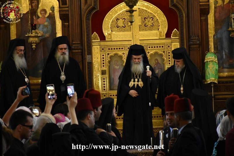 Ιεροσόλυμα: Αγίου Πνεύματος στον Ναό της Αγίας Τριάδος του Πατριαρχείου Μόσχας
