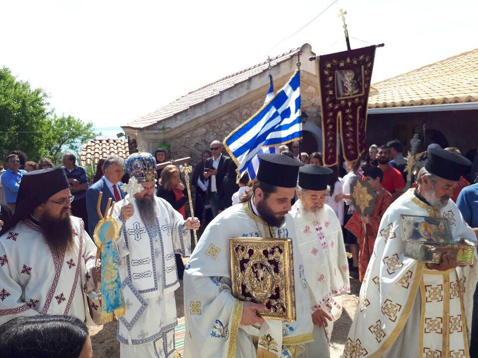 λατρευτικές εκδηλώσεις ιερού λειψάνου του Αγίου Νικολάου στην Μονή Ιρά Αθανίου