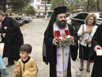 Ερέτρια - Τώρα: Δέος και συγκίνηση στην υποδοχή των ιερών Λειψάνων της Οσίας Σοφίας της Κλεισούρας