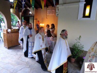 Με λαμπρότητα τιμήθηκε η μνήμη της Αγίας Ειρήνης στη Μητρόπολη Σπάρτης