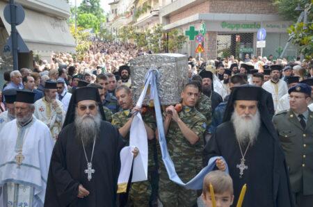 Η Λάρισα τιμά τον Άγιο Αχίλλιο - Θλίψη και Ευχές για τον Μητροπολίτη Ιγνάτιο