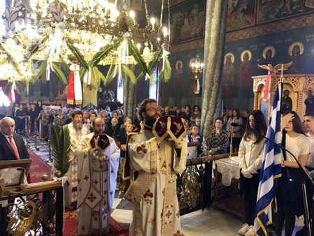 Αρχιερατική Θεία Λειτουργία στον πανηγυρίζοντα Ιερό Ναό Αγίου Αθανασίου Μαγνησίας