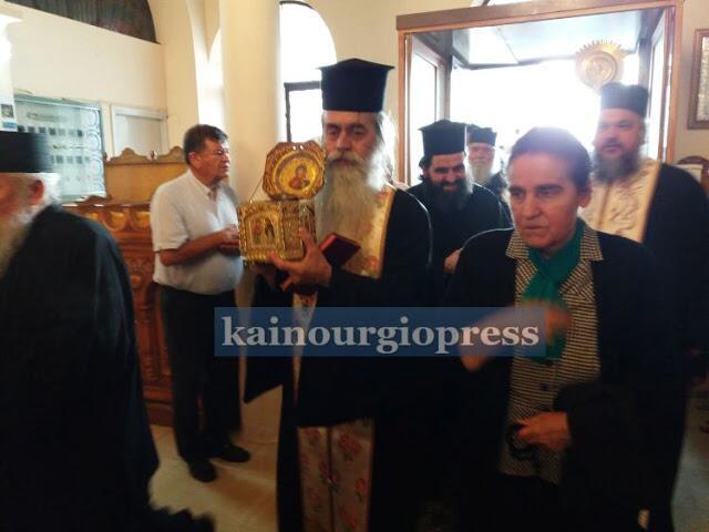 Το Καινούργιο υποδέχθηκε την Τιμία Κάρα του Αγίου Παντελεήμονα από το Άγιο Όρος