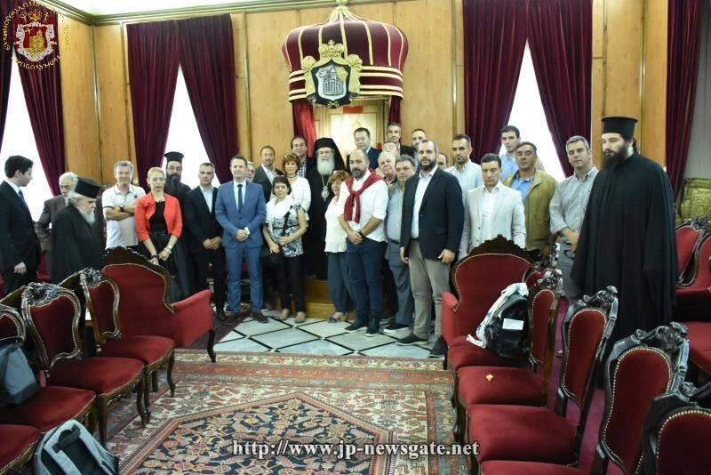 Ο Υφυπουργός Αγροτικής Ανάπτυξης της Ελλάδος στο Πατριαρχείο Ιεροσολύμων