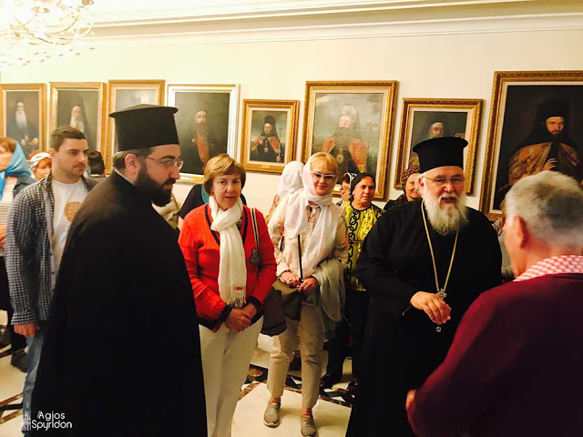 Στον Μητροπολίτη Κερκύρας μέλη της Ρωσικής παροικίας της Κωνσταντινουπόλεως