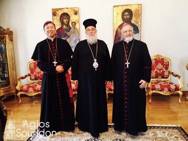 Επίσκεψη του Αποστολικού Νούντσιου στον Κερκύρας Νεκτάριο