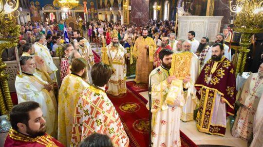 Πανηγυρική Αρχιερατική Θεία Λειτουργία στον Ιερό ναό Αγ. Θεράποντος - Θεσσαλονίκης