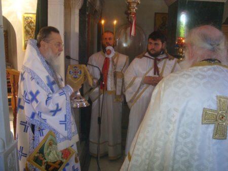 Μονή Αγίου Θεράποντος Γαλατακίου: Εσπερινός και Αρχιερατική Θεία Λειτουργία