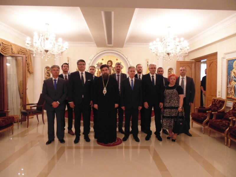 Με τον Δήμαρχο της Σερβικής πόλης Νις συναντήθηκε ο Μητροπολίτης Σερρών