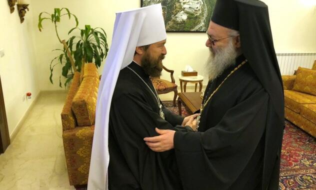Με τον Προκαθήμενο της Εκκλησίας Αντιοχείας συναντήθηκε ο Μητροπολίτης Ιλαρίωνας