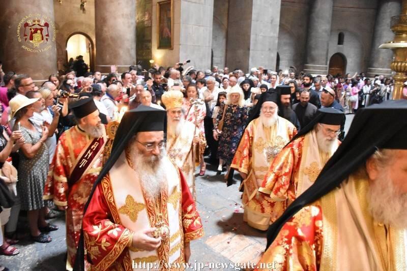 Η Εορτή του εν Ουρανώ φανέντος σημείου του Σταυρού στον Ναό της Αναστάσεως