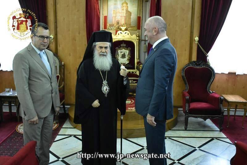Στο Πατριαρχείο Ιεροσολύμων ο Υπουργός Τεχνολογικής Ανάπτυξης της Σερβίας
