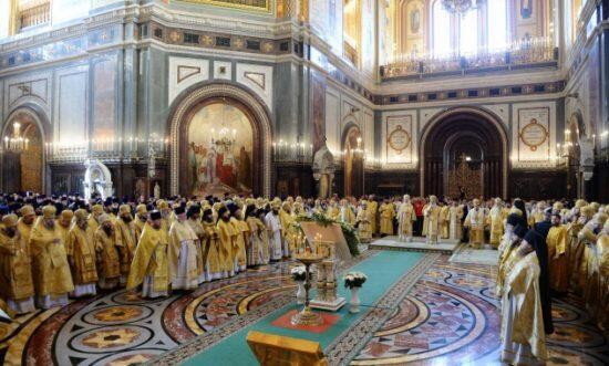 Μόσχα: Οι Πατριάρχες Κύριλλος και Ειρηναίος τέλεσαν συλλείτουργο στον Ιερό Καθεδρικό Ναό Σωτήρος Χριστού