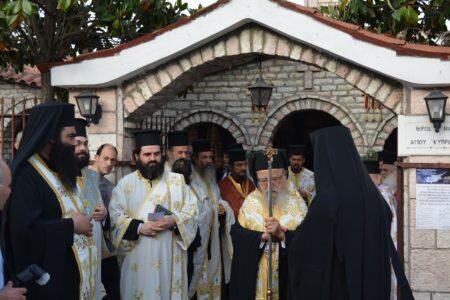 Πάνδημη υποδοχή της Τιμίας Κάρας του Αγίου Κυπριανού στο Παναιτώλιο