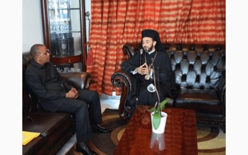 Επίσημη συνάντηση του Μητροπολίτη Μπραζαβίλ με τον νεό Δήμαρχο της πόλεως Pointe-Noire