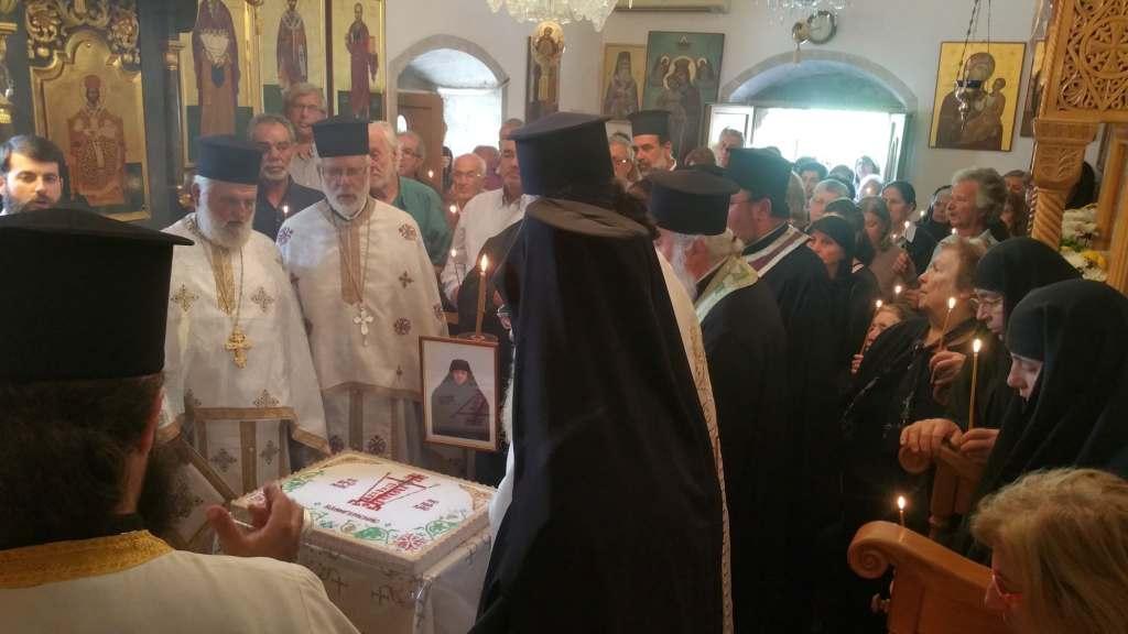 Θλίψη σήμερα στο τεσσαρακονθήμερο μνημόσυνο της μακαριστής Ηγουμένης της Μονής Εξακουστής Μαλλών