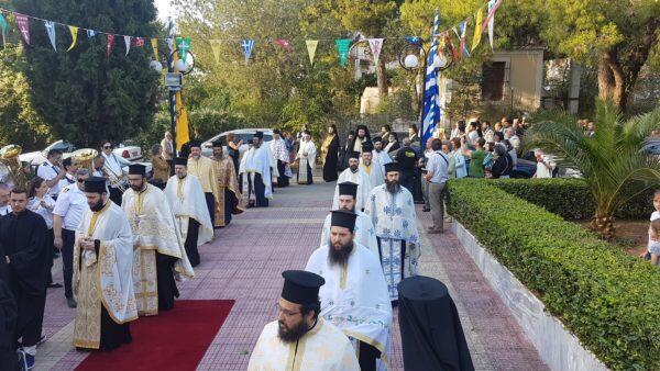 Κηφισιά: Συγκίνηση στην υποδοχή της Ιεράς Εικόνας Παναγίας Φοβεράς Προστασίας από το Άγιο Όρος