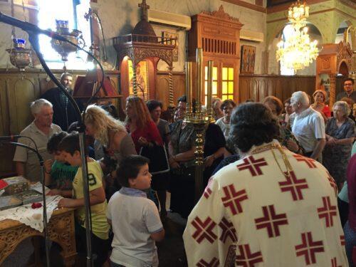 Δισαρχιερατική Πανηγυρική Θεία Λειτουργία στον εορτάζοντα Ενοριακό Ναό Αγίας Τριάδος Καλάμου
