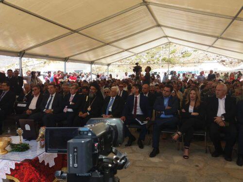 Πρόεδρος της Δημοκρατίας, Σύμης Χρυσόστομος και πλήθος κόσμου σήμερα στα εγκαίνια του λιμανιού της Σύμης