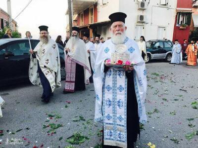 Λιτανεία της ιεράς εικόνος της Παναγίας στον Ποταμό Κέρκυρας