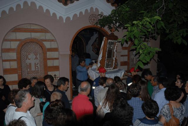Λαμπρή Πανήγυρις στην Μονή Παναγίας της Γοργοεπηκόου Ψαχνών (ΦΩΤΟ)