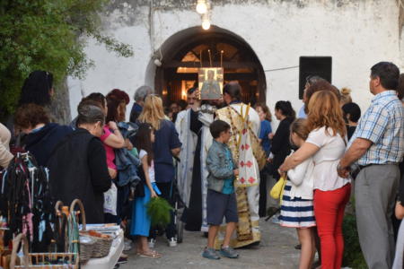 Λευκάδα: Κοσμοπλημμύρα στην εορτή των Αγίων Τιμοθέου και Μαύρας στο Κάστρο