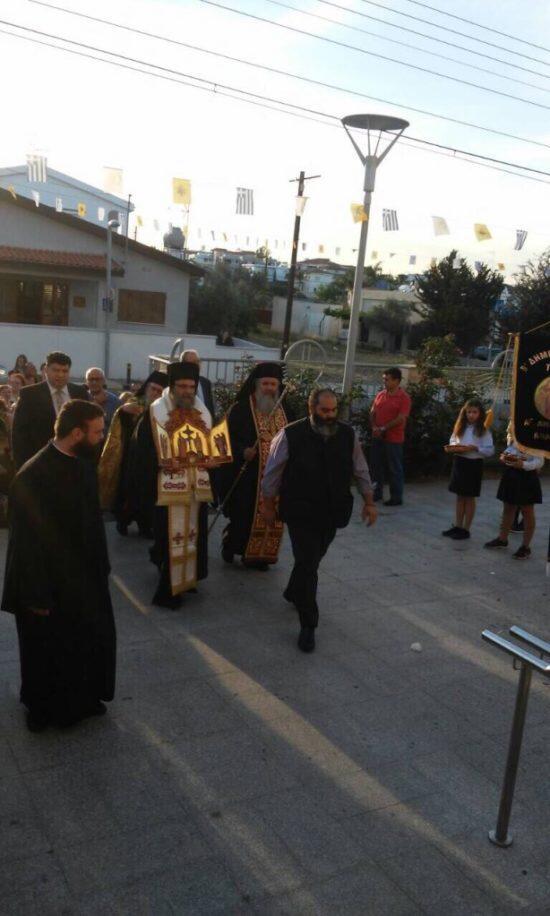 Υποδοχή Τιμίου Ξύλου και Ιερών Λειψάνων Κωνσταντίνου και Ελένης στη Μητρόπολη Ταμασού
