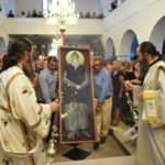Λαμπρή υποδοχή Εικόνας του Αγίου Παϊσίου στην Νέα Έφεσο Πιερίας