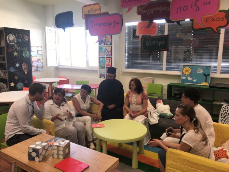 Επιμορφωτική επίσκεψη των Ουκρανών φιλοξενούμενων της Μητρόπολης Κίτρους στο 19ο Δημοτικό Σχολείο Κατερίνης