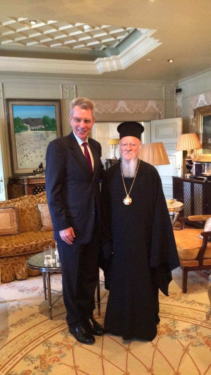 Συνάντηση Βαρθολομαίου με Αμερικανό Πρέσβη