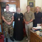 Το Διοικητικό Συμβούλιο της Ένωσης Στρατιωτικών Περιφερειακής Ενότητας Χανίων στο πλαίσιο των εθιμοτυπικών επισκέψεων και συναντήσεών του πραγματοποίησε επίσκεψη στον Σεβασμιώτατο Ποιμενάρχη μας κ.κ. Δαμασκηνό προκειμένου να λάβει την Αρχιερατική του ευλογία και να συζητήσουν θέματα συνεργασίας και αλληλοβοήθειας επ' ωφελεία των συμπολιτών μας.