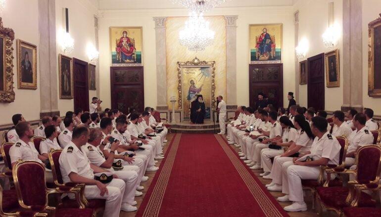 Στον Πατριάρχη Αλεξανδρείας Αξιωματικοί του Πολεμικού μας Ναυτικού