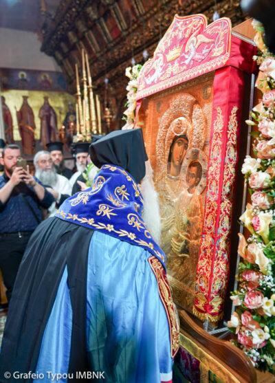 Η Βέροια υποδέχθηκε την Ιερά Εικόνα της Παναγίας «Βηματάρισσας» από το Άγιο Όρος